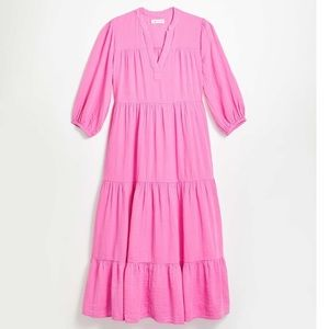 (With Tag) Tiered Pocket Maxi Dress